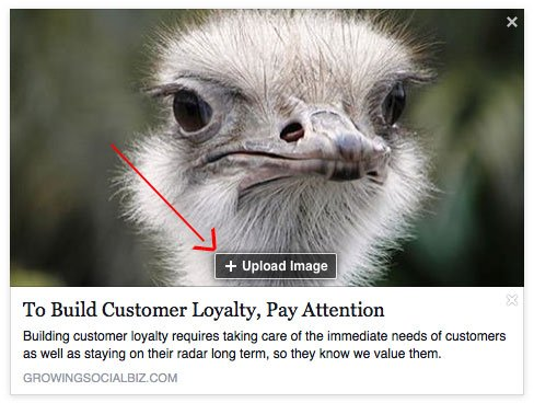 Choose The Image That Goes Along With Your Facebook Post Link