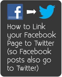 How to link your Facebook posts to Twitter