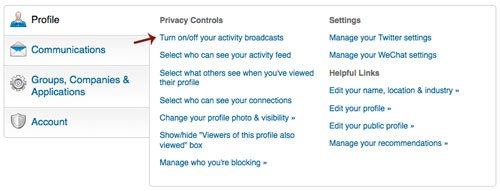LinkedIn-Settings
