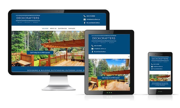 DeckCrafters, Fraser Valley, BC, Website