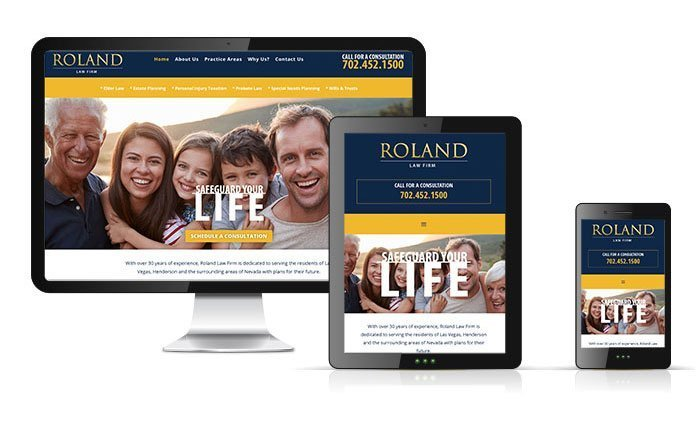 Roland Law Firm, Las Vegas, Nevada, Website