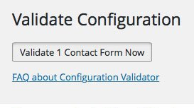 Validate Configuration of Contact Form 7
