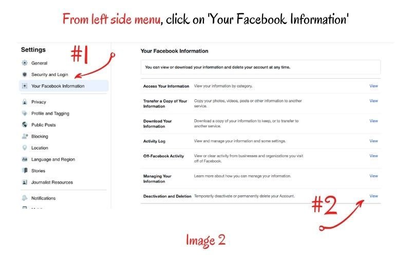 Steps to Deleting Facebook Personal Profile
